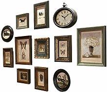 dainufeng Wand-Collage-Bilderrahmen-Sets mit Uhr