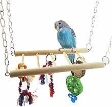 dairyshop Pet Bird Papagei Sittich Wellensittich Käfig für Nymphensittiche Hamster Hängematte Swing Spielzeug zum Aufhängen