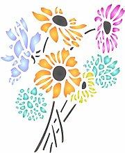 Daisy Blume Schablone-wiederverwendbar Flora