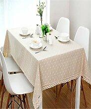 Daisy Flower Pattern Tischdecke Leinen und