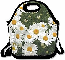 Daisy Flower Punk Lunch Bag Reusable Lunch Tote
