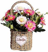 Daisy Gefälschte Blume Tragbare Blumenkorb