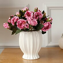 Daisy Kunstblumen,Silk blume Gefälschte blume Desk Simulation blume Schlafzimmer Zubehör [esstisch]-Rosa