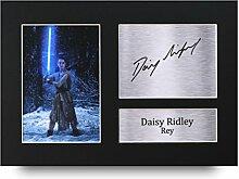 Daisy Ridley unterzeichnet A4gedrucktem Autogramm Druck Star Wars Rey Foto Bild Display–tolle Geschenkidee