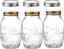 Daitouge Einmachglas, luftdichte Deckel, Glas mit
