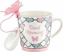 Dajar Becher Sweet Mosaik mit Tee Einsatz 290 ml