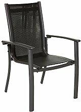Dajar Esstühle Stuhl Acapulco, anthrazit/grau