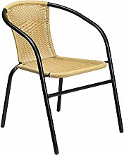 Dajar Sessel Bistro, beige / mehrfarbig