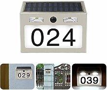 DAKANG Solar beleuchtete Hausnummer mit 7 LEDs,