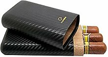 dakoufish Carbon Faser Leder 3Tube Holz Zigarre