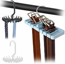 DaKuan 2er-Pack Verstellbare Krawattenbügel und 1
