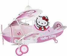Dalber 54252 Hängeleuchte Flugzeug Hello Kitty Kinderzimmer Lampe Leuchte