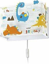 Dalber Dinos kinder wandlampe, Kunststoff, 60 W,