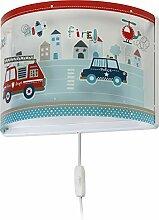 Dalber kinder Wandlampe Autos Police, Kunststoff,
