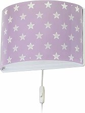 Dalber kinder wandlampe Stars Malve, Kunststoff,