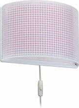 Dalber kinder wandlampe Vichy Rosa, Kunststoff, 60