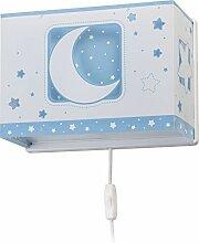 Dalber wandlampe Moon Light Blau, Kunststoff, 60 W