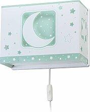 Dalber wandlampe Moon Light Grün, Kunststoff, 60 W