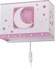 Dalber wandlampe Moon Light Rosa, Kunststoff, 60 W