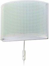Dalber wandlampe Vichy Grün, Kunststoff, 60 W