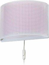 Dalber Wandlampe Vichy Rosa, Kunststoff, 60 W