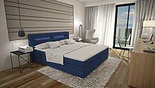 Dalian Boxspringbett 180x200 cm - blaues