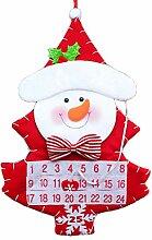 DALIN Adventskalender mit Weihnachtsmann-Motiv,