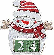 DALIN Holz Schneemann Santa Claus Adventskalender