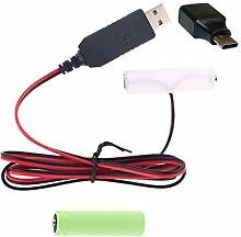 DALIN LR6 AA Batterie Eliminator USB Typ C
