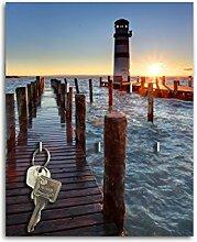Dalinda Schlüsselbrett mit Design Leuchtturm Pier