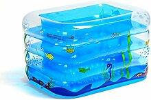DALL Planschbecken Doppelt Drainage aufblasbares Schwimmbecken Pool Family Pool Kinder Planschbecken Erholung Pool 140*110*70cm