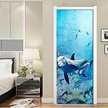 dalongshan Türposter,Blauer Meeresboden Dolphin