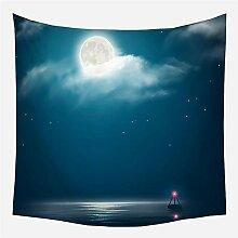 Dalovy Tapisserie Nachthimmel Mond Tapisserie