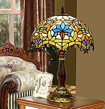 DALUXE Tiffany Tischlampe Schlafzimmer