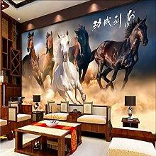 Dalxsh Wandgemälde Der Tapete 3D Zum Pferd