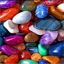 Dalxsh 3D Bunte Jade Stone Stone Pebble Boden