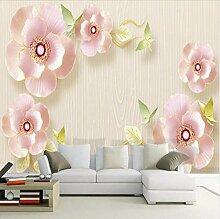 Dalxsh 3D Relief Schmuck Blumen Tapete Für