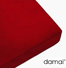 Damai Damai Jersey Topper Spannbetttuch Rot - 5-8cm - 180 x 200 cm 100% Baumwolle