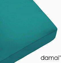 Damai Damai Nightkiss Topper Spannbetttuch Türkis - 8-12cm - 140 x 200 cm 100% Baumwolle