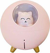 DAMAIA USB-Mini-Luftbefeuchter 220ml Nette Katze