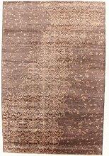 Damask Teppich Orientalischer Teppich 296x199 cm, Indien Handgeknüpft Designer