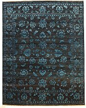 Damask Teppich Orientalischer Teppich 299x237 cm, Indien Handgeknüpft Designer