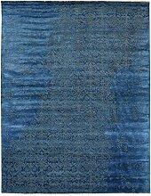 Damask Teppich Orientalischer Teppich 309x239 cm, Indien Handgeknüpft Designer
