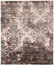 Damask Teppich Orientalischer Teppich 311x255 cm, Indien Handgeknüpft Designer