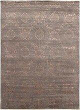 Damask Teppich Orientalischer Teppich 358x264 cm, Indien Handgeknüpft Designer