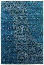 Damask Teppich Orientteppich 244x164 cm, Indien Handgeknüpft Designer