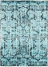 Damask Teppich Orientteppich 247x175 cm, Indien Handgeknüpft Designer