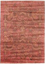 Damask Teppich Orientteppich 250x175 cm, Indien Handgeknüpft Designer