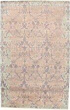 Damask Teppich Orientteppich 304x195 cm, Indien