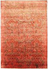 Damask Teppich Orientteppich 350x247 cm, Indien Handgeknüpft Designer